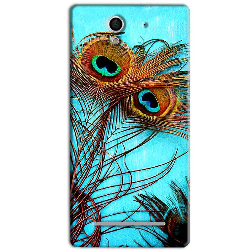 Sony Xperia C3 Mobile Covers Cases Peacock blue wings - Lowest Price - Paybydaddy.com