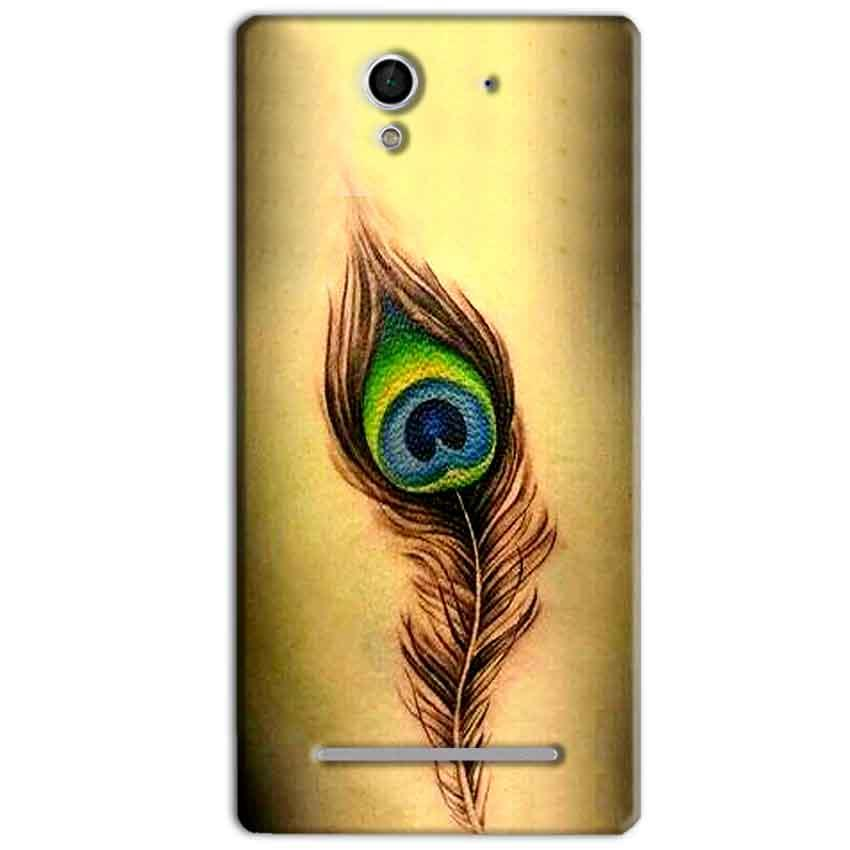 Sony Xperia C3 Mobile Covers Cases Peacock coloured art - Lowest Price - Paybydaddy.com