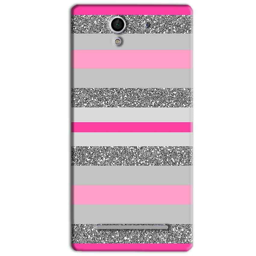 Sony Xperia C3 Mobile Covers Cases Pink colour pattern - Lowest Price - Paybydaddy.com