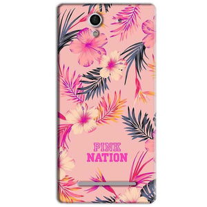 Sony Xperia C3 Mobile Covers Cases Pink nation - Lowest Price - Paybydaddy.com