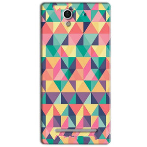 Sony Xperia C3 Mobile Covers Cases Prisma coloured design - Lowest Price - Paybydaddy.com