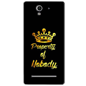Sony Xperia C3 Mobile Covers Cases Property of nobody with Crown - Lowest Price - Paybydaddy.com