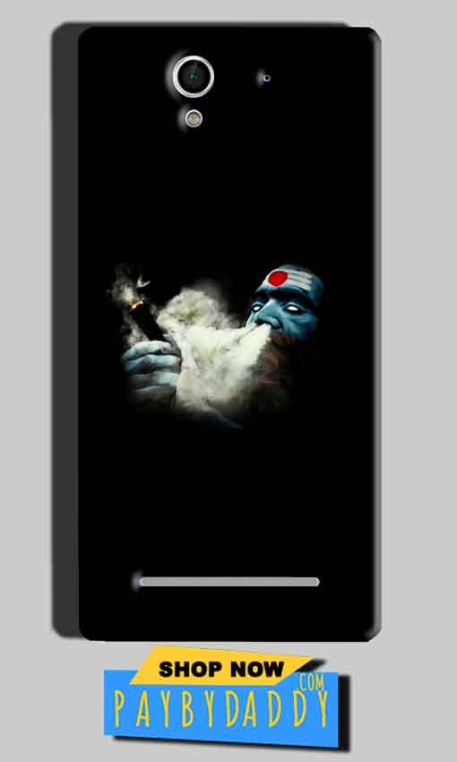 Sony Xperia C3 Mobile Covers Cases Shiva Aghori Smoking - Lowest Price - Paybydaddy.com