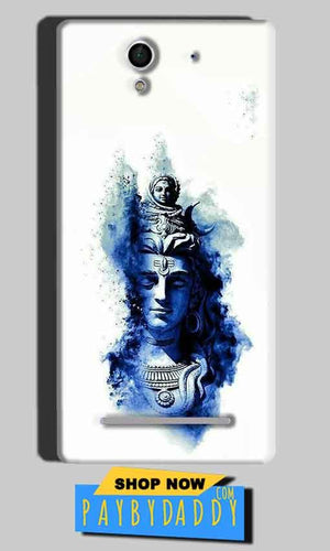 Sony Xperia C3 Mobile Covers Cases Shiva Blue White - Lowest Price - Paybydaddy.com