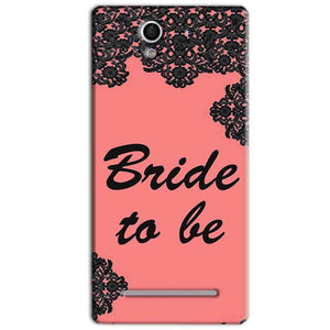 Sony Xperia C3 Mobile Covers Cases Mobile Covers Cases bride to be with ring Black Pink - Lowest Price - Paybydaddy.com