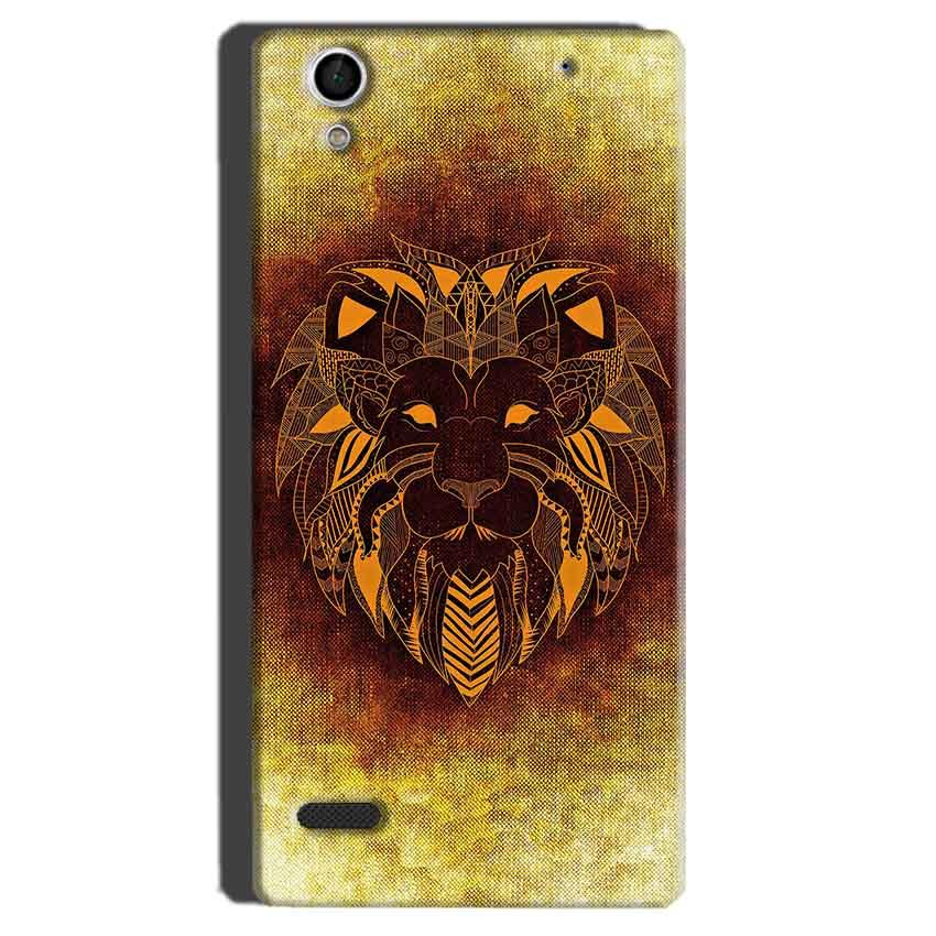 Sony Xperia C4 Mobile Covers Cases Lion face art - Lowest Price - Paybydaddy.com
