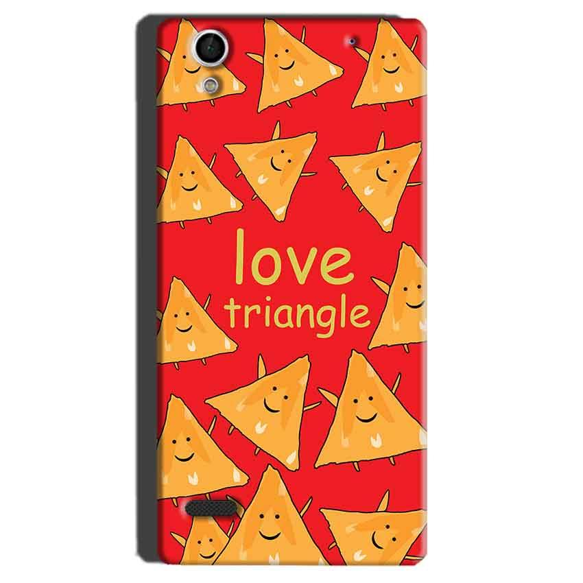 Sony Xperia C4 Mobile Covers Cases Love Triangle - Lowest Price - Paybydaddy.com