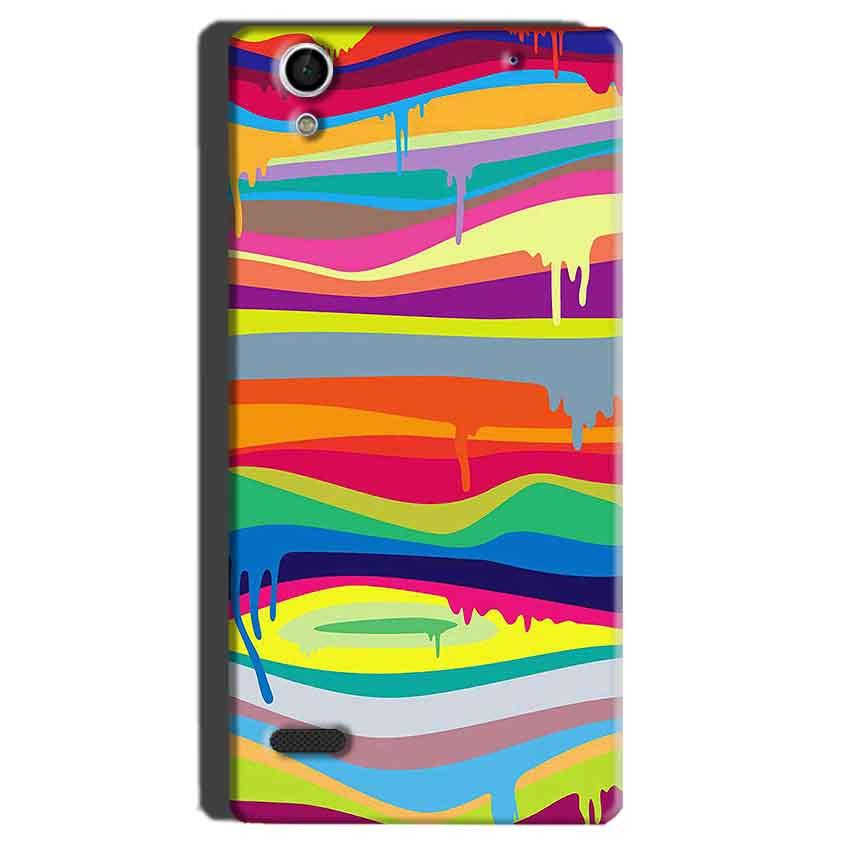 Sony Xperia C4 Mobile Covers Cases Melted colours - Lowest Price - Paybydaddy.com