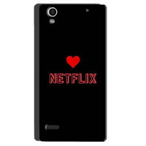 Sony Xperia C4 Mobile Covers Cases NETFLIX WITH HEART - Lowest Price - Paybydaddy.com
