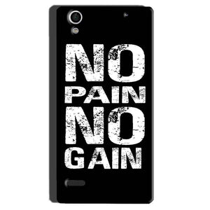 Sony Xperia C4 Mobile Covers Cases No Pain No Gain Black And White - Lowest Price - Paybydaddy.com
