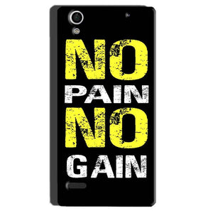 Sony Xperia C4 Mobile Covers Cases No Pain No Gain Yellow Black - Lowest Price - Paybydaddy.com