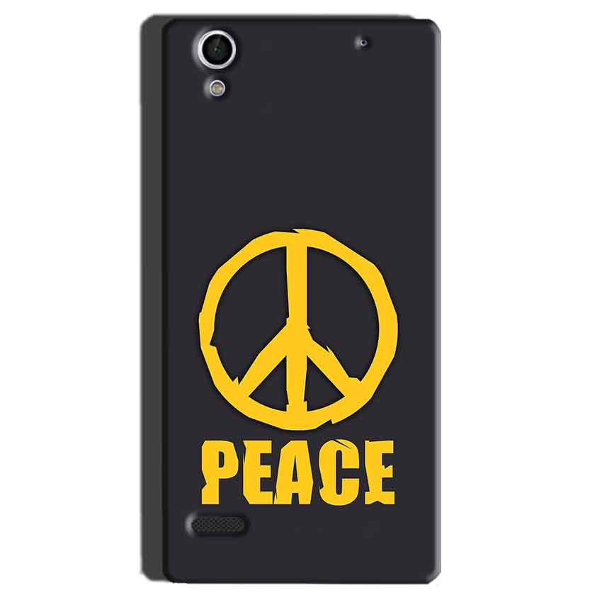 Sony Xperia C4 Mobile Covers Cases Peace Blue Yellow - Lowest Price - Paybydaddy.com