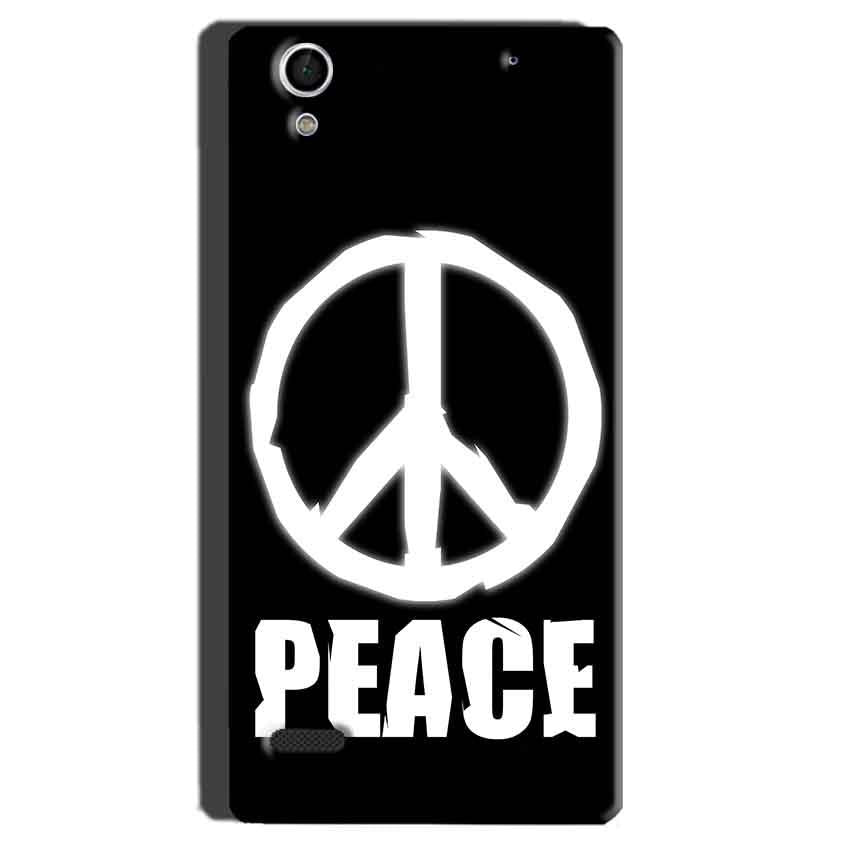Sony Xperia C4 Mobile Covers Cases Peace Sign In White - Lowest Price - Paybydaddy.com
