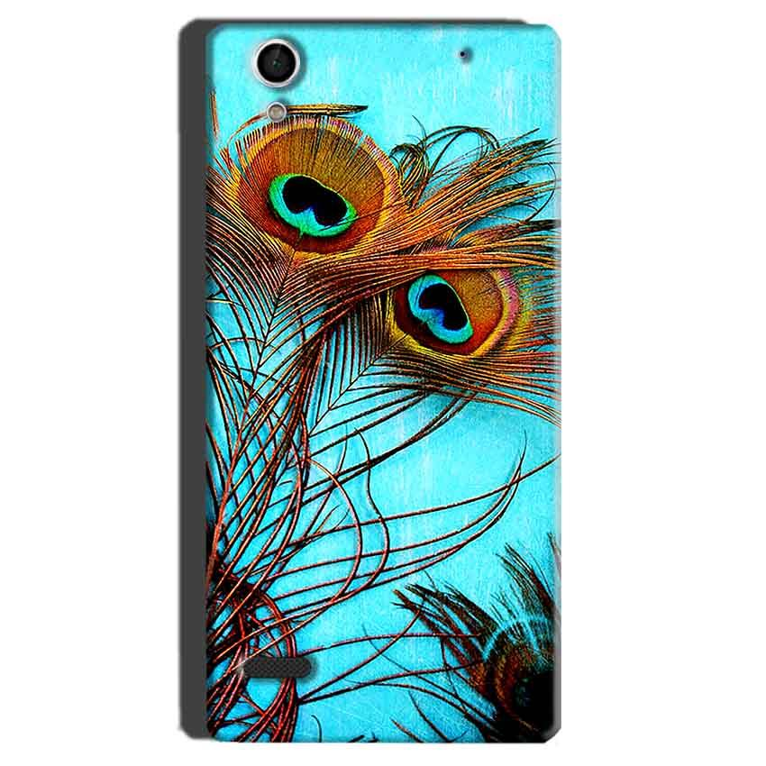 Sony Xperia C4 Mobile Covers Cases Peacock blue wings - Lowest Price - Paybydaddy.com