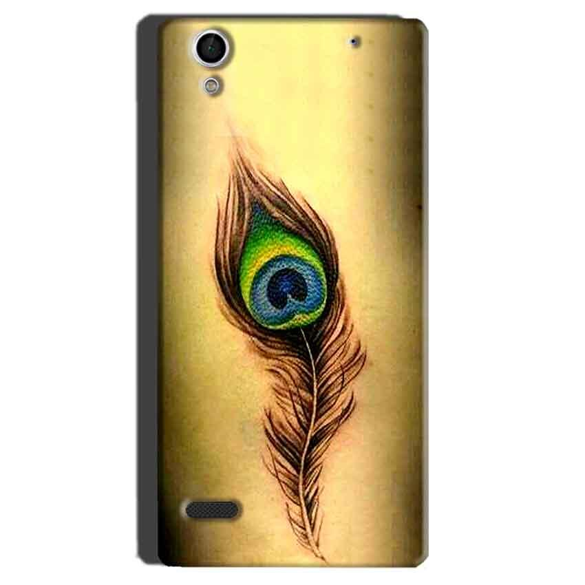 Sony Xperia C4 Mobile Covers Cases Peacock coloured art - Lowest Price - Paybydaddy.com