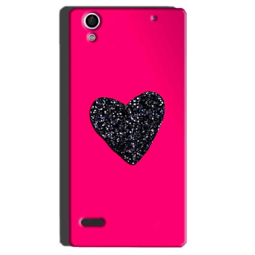 Sony Xperia C4 Mobile Covers Cases Pink Glitter Heart - Lowest Price - Paybydaddy.com