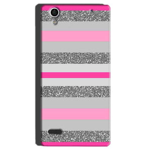 Sony Xperia C4 Mobile Covers Cases Pink colour pattern - Lowest Price - Paybydaddy.com