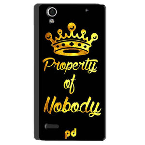 Sony Xperia C4 Mobile Covers Cases Property of nobody with Crown - Lowest Price - Paybydaddy.com