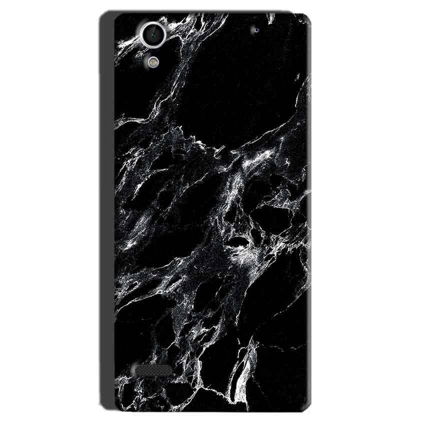 Sony Xperia C4 Mobile Covers Cases Pure Black Marble Texture - Lowest Price - Paybydaddy.com