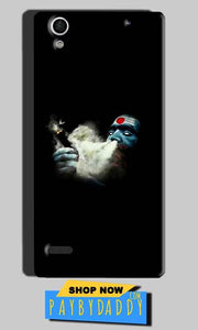 Sony Xperia C4 Mobile Covers Cases Shiva Aghori Smoking - Lowest Price - Paybydaddy.com
