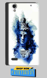 Sony Xperia C4 Mobile Covers Cases Shiva Blue White - Lowest Price - Paybydaddy.com