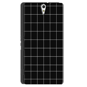 Sony Xperia C5 Mobile Covers Cases Black with White Checks - Lowest Price - Paybydaddy.com