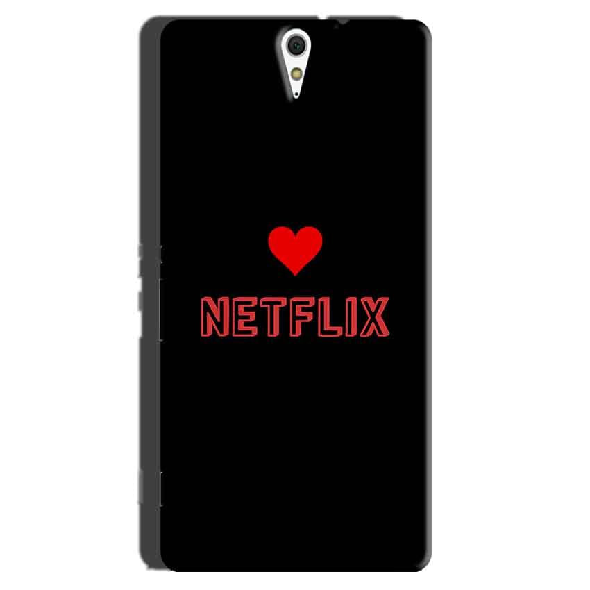 Sony Xperia C5 Mobile Covers Cases NETFLIX WITH HEART - Lowest Price - Paybydaddy.com