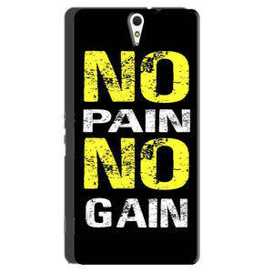 Sony Xperia C5 Mobile Covers Cases No Pain No Gain Yellow Black - Lowest Price - Paybydaddy.com