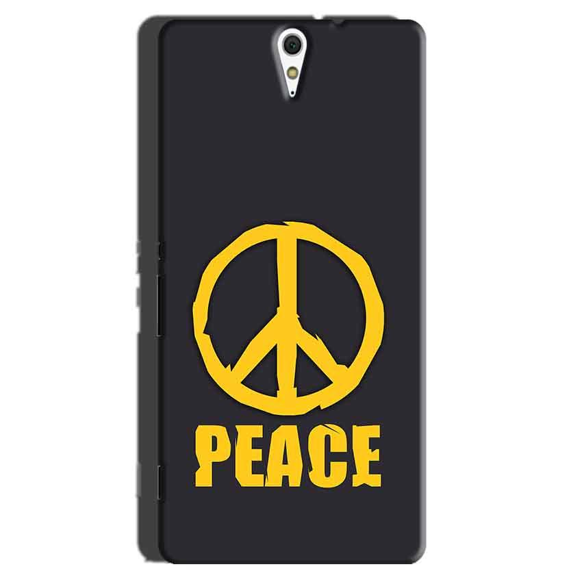 Sony Xperia C5 Mobile Covers Cases Peace Blue Yellow - Lowest Price - Paybydaddy.com