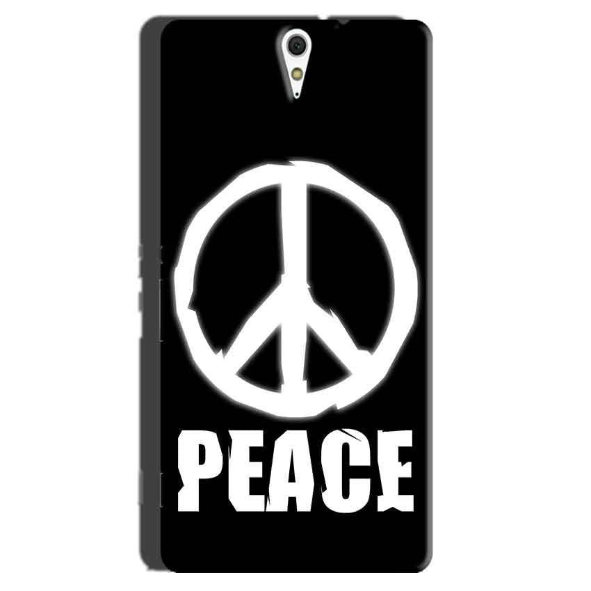Sony Xperia C5 Mobile Covers Cases Peace Sign In White - Lowest Price - Paybydaddy.com