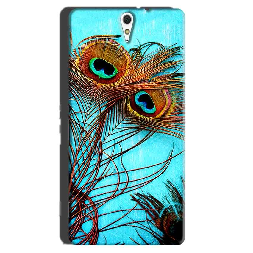 Sony Xperia C5 Mobile Covers Cases Peacock blue wings - Lowest Price - Paybydaddy.com