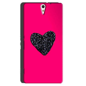 Sony Xperia C5 Mobile Covers Cases Pink Glitter Heart - Lowest Price - Paybydaddy.com