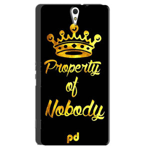 Sony Xperia C5 Mobile Covers Cases Property of nobody with Crown - Lowest Price - Paybydaddy.com