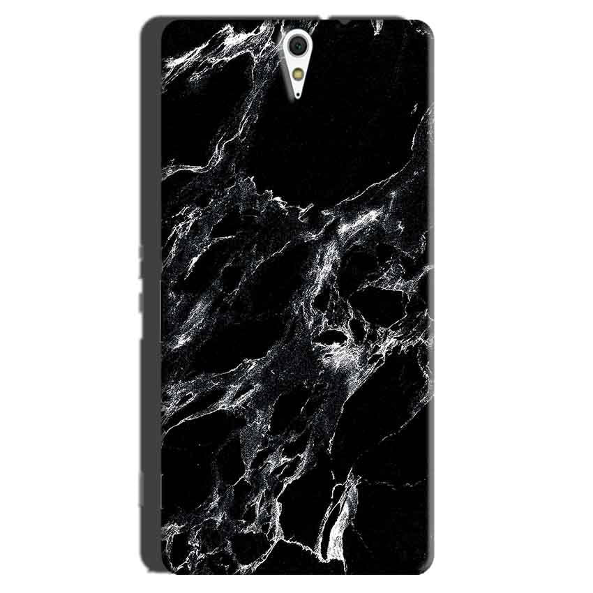 Sony Xperia C5 Mobile Covers Cases Pure Black Marble Texture - Lowest Price - Paybydaddy.com