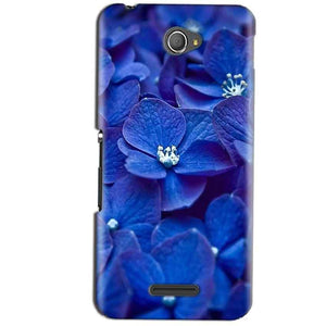Sony Xperia E4 Mobile Covers Cases Blue flower - Lowest Price - Paybydaddy.com