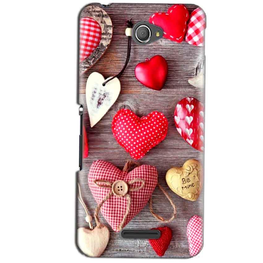 Sony Xperia E4 Mobile Covers Cases Hearts- Lowest Price - Paybydaddy.com
