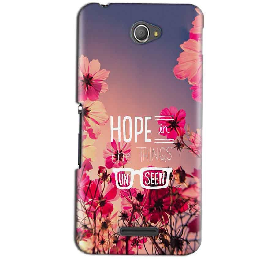 Sony Xperia E4 Mobile Covers Cases Hope in the Things Unseen- Lowest Price - Paybydaddy.com