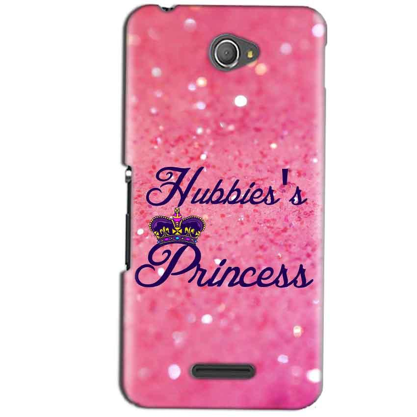 Sony Xperia E4 Mobile Covers Cases Hubbies Princess - Lowest Price - Paybydaddy.com