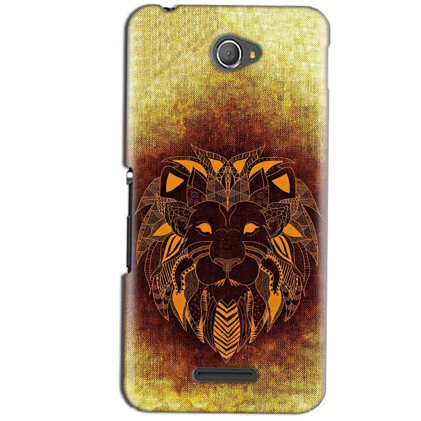 Sony Xperia E4 Mobile Covers Cases Lion face art - Lowest Price - Paybydaddy.com