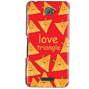 Sony Xperia E4 Mobile Covers Cases Love Triangle - Lowest Price - Paybydaddy.com