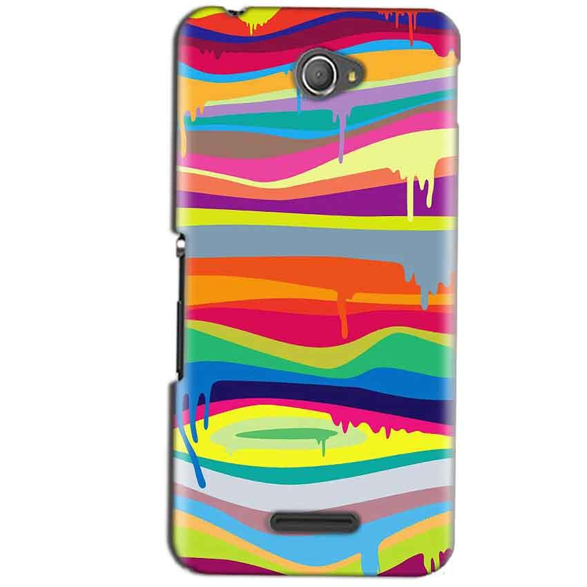 Sony Xperia E4 Mobile Covers Cases Melted colours - Lowest Price - Paybydaddy.com