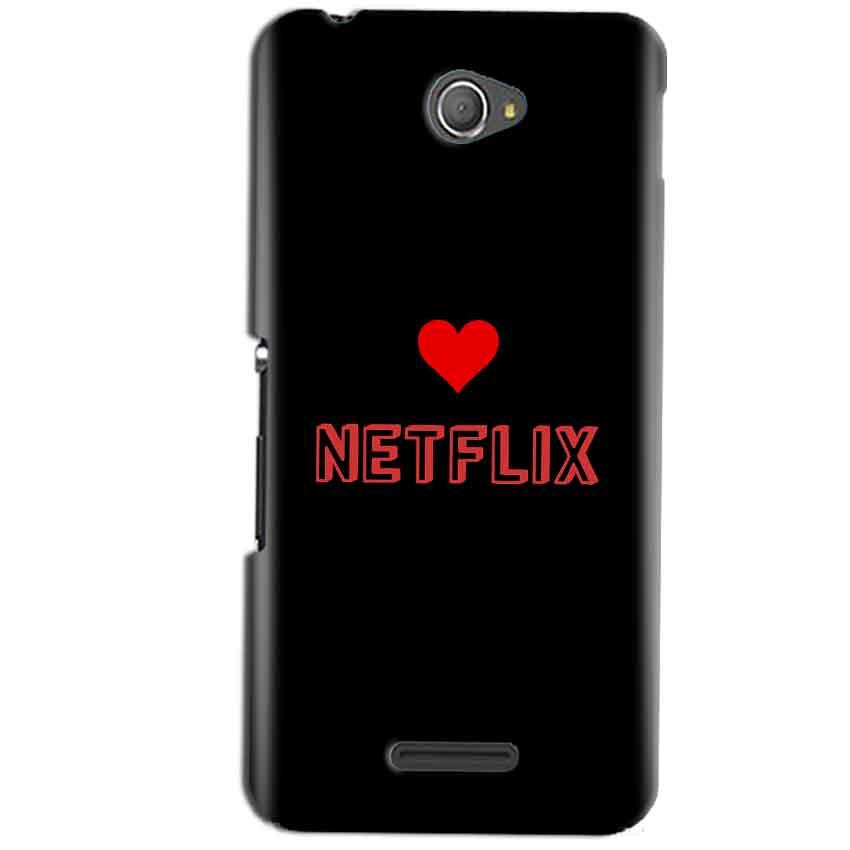 Sony Xperia E4 Mobile Covers Cases NETFLIX WITH HEART - Lowest Price - Paybydaddy.com