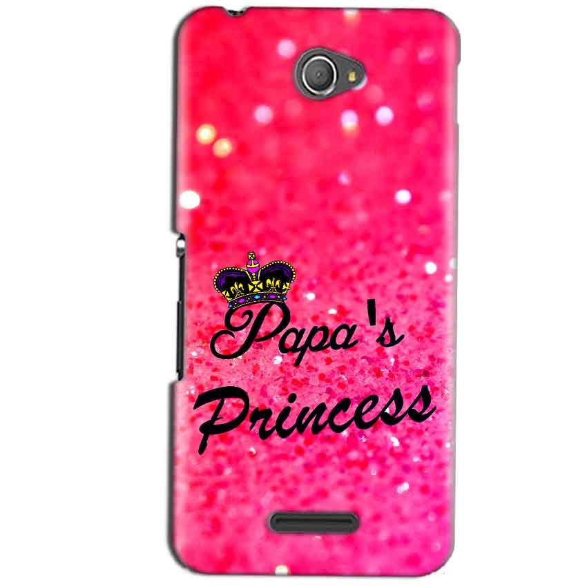 Sony Xperia E4 Mobile Covers Cases PAPA PRINCESS - Lowest Price - Paybydaddy.com
