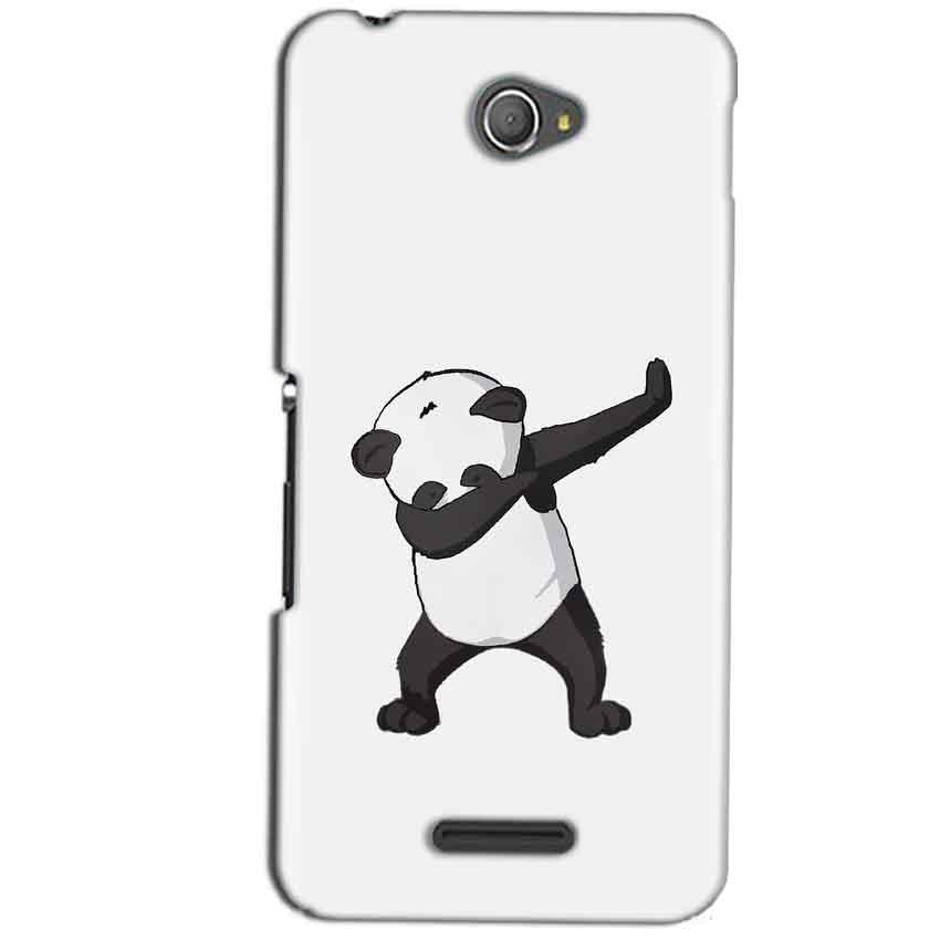 Sony Xperia E4 Mobile Covers Cases Panda Dab - Lowest Price - Paybydaddy.com