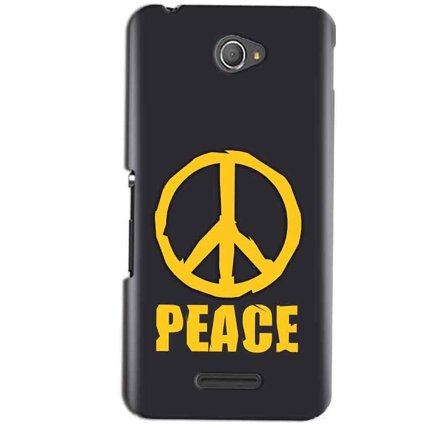 Sony Xperia E4 Mobile Covers Cases Peace Blue Yellow - Lowest Price - Paybydaddy.com