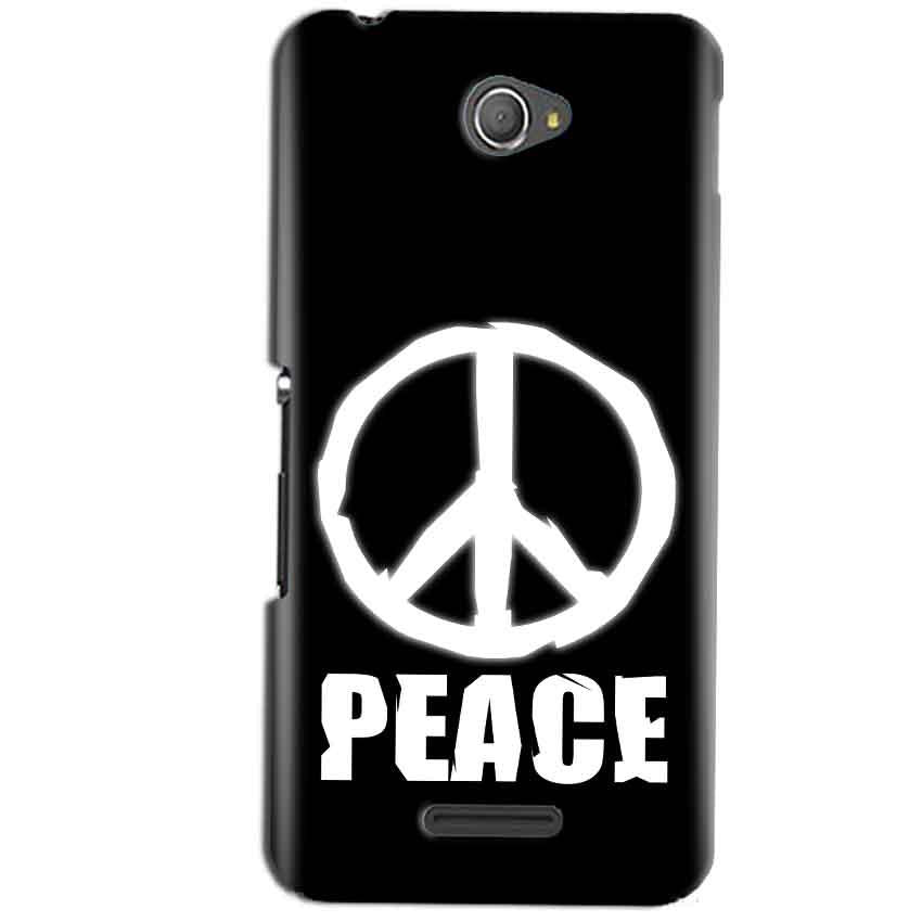 Sony Xperia E4 Mobile Covers Cases Peace Sign In White - Lowest Price - Paybydaddy.com