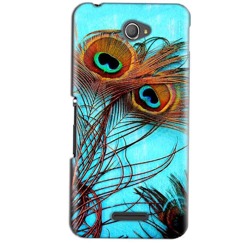 Sony Xperia E4 Mobile Covers Cases Peacock blue wings - Lowest Price - Paybydaddy.com