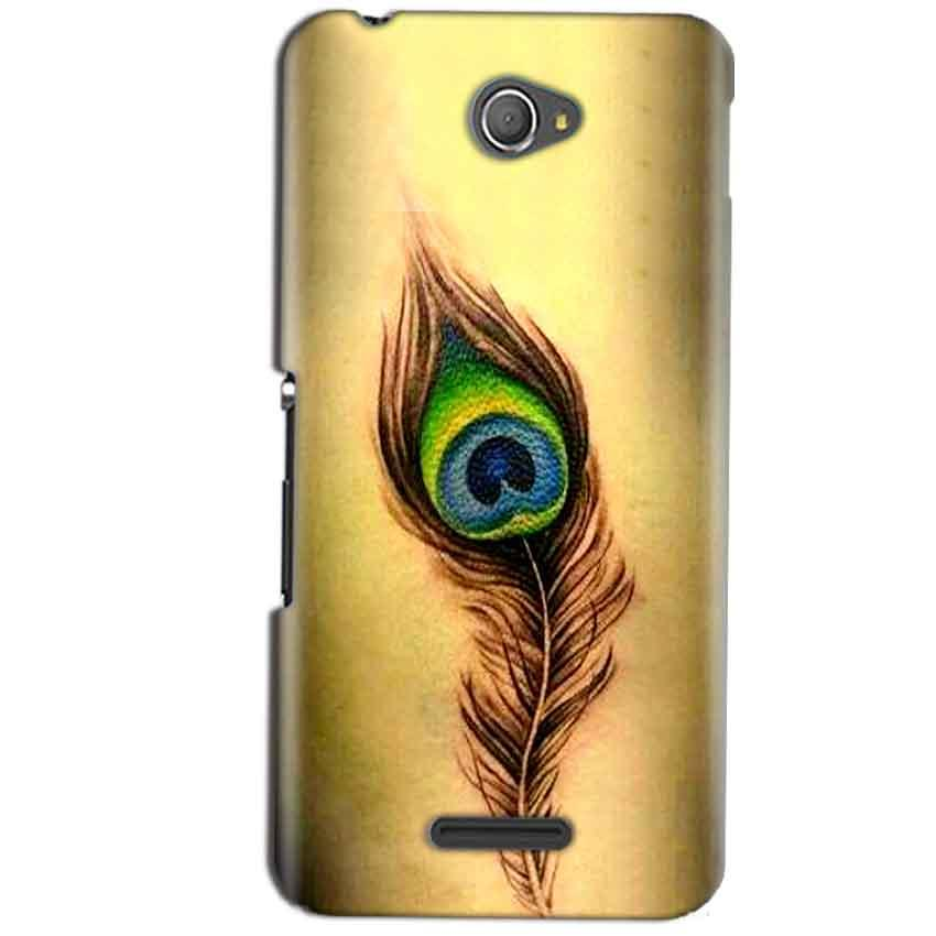 Sony Xperia E4 Mobile Covers Cases Peacock coloured art - Lowest Price - Paybydaddy.com
