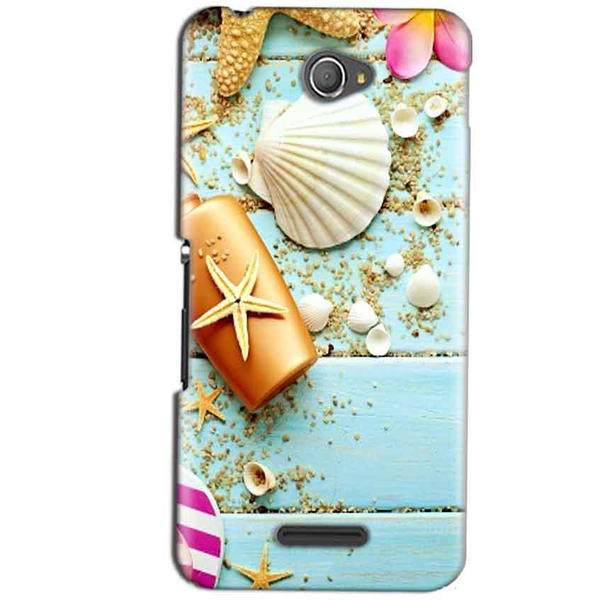 Sony Xperia E4 Mobile Covers Cases Pearl Star Fish - Lowest Price - Paybydaddy.com
