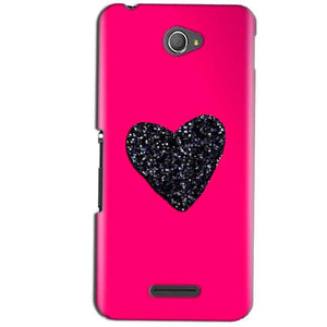 Sony Xperia E4 Mobile Covers Cases Pink Glitter Heart - Lowest Price - Paybydaddy.com
